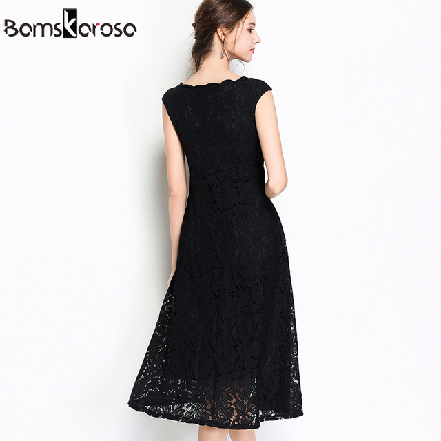Summer Party Lace Dress Slim Sleeveless Women Floral Crochet Casual White Dresses Vestidos Ball Gown For Bridesmaid Wedding 5
