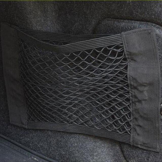 Car Back Rear Trunk Seat Elastic String Net Mesh Car Trunk Storage Bag Cargo Organizer Storage Bag Pocket Cage Auto Accessoires