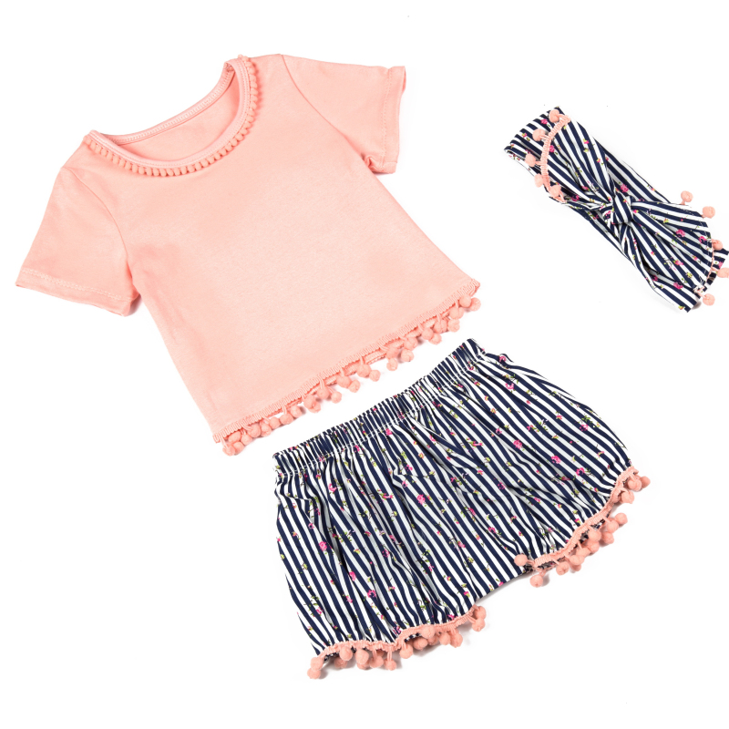 cb18d093e Free Shipping kids clothing Retail babies newborn Pompom pettiset ...