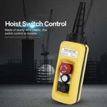 ABS Plastic Crane Chain Hoist Push Button Switch Lifting Pendant Controller w/ Emergency Stop Durable