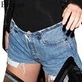 Bazaleas 2017 Mujeres Del Verano de Pantalones Cortos de Los Pantalones Vaqueros de Moda Feminino Fitness Cintura Alta Sexy Borla Pantalones Cortos de Mezclilla Elástica