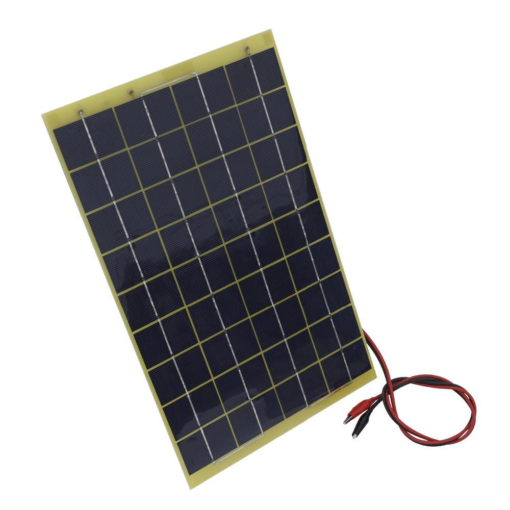10 watts 12 volts epoxy solar panel module 12v battery. Black Bedroom Furniture Sets. Home Design Ideas