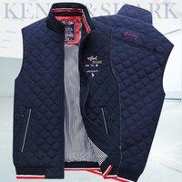 Vest Men New Stylish 2019 Autumn Warm Sleeveless Jacket Men Winter Waistcoat Men's Vest Fashion Casual Coats Mens Plus Size