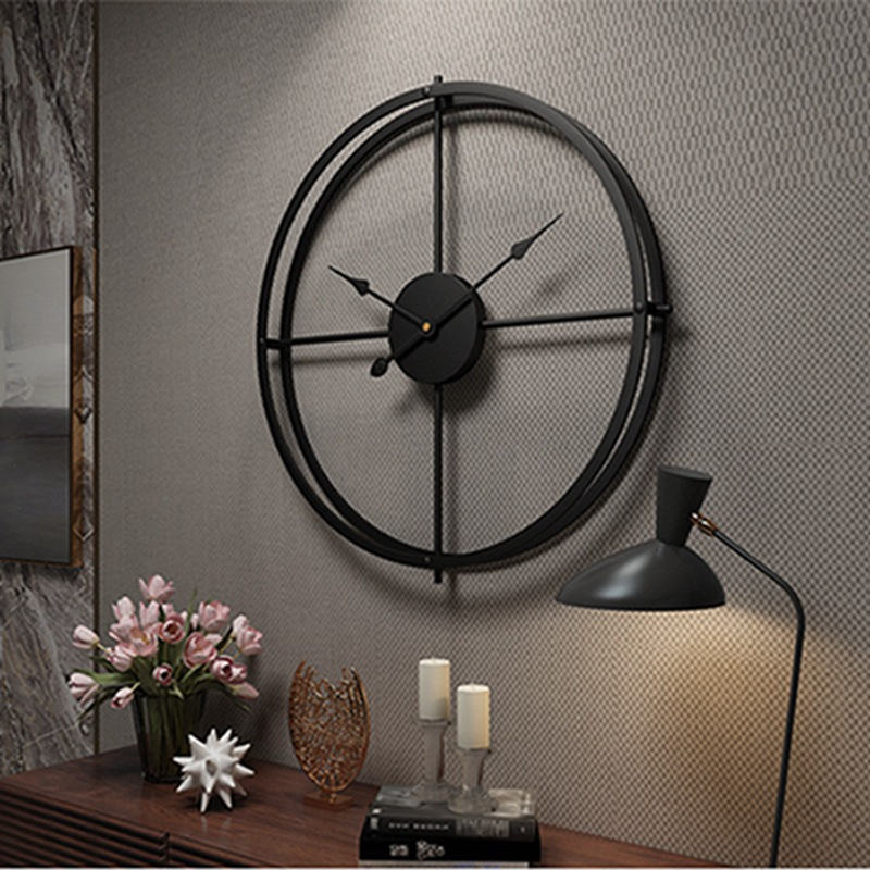 2019 Creative Wall Clock Modern Design For Home Office Decorative Hanging Living Room Classic Brief Metal Wall Watch(China)