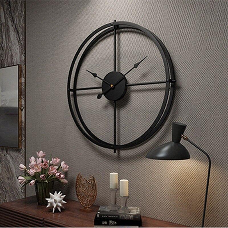 2019 horloge murale créative Design moderne pour maison bureau décoratif suspendu salon classique bref métal mur montre