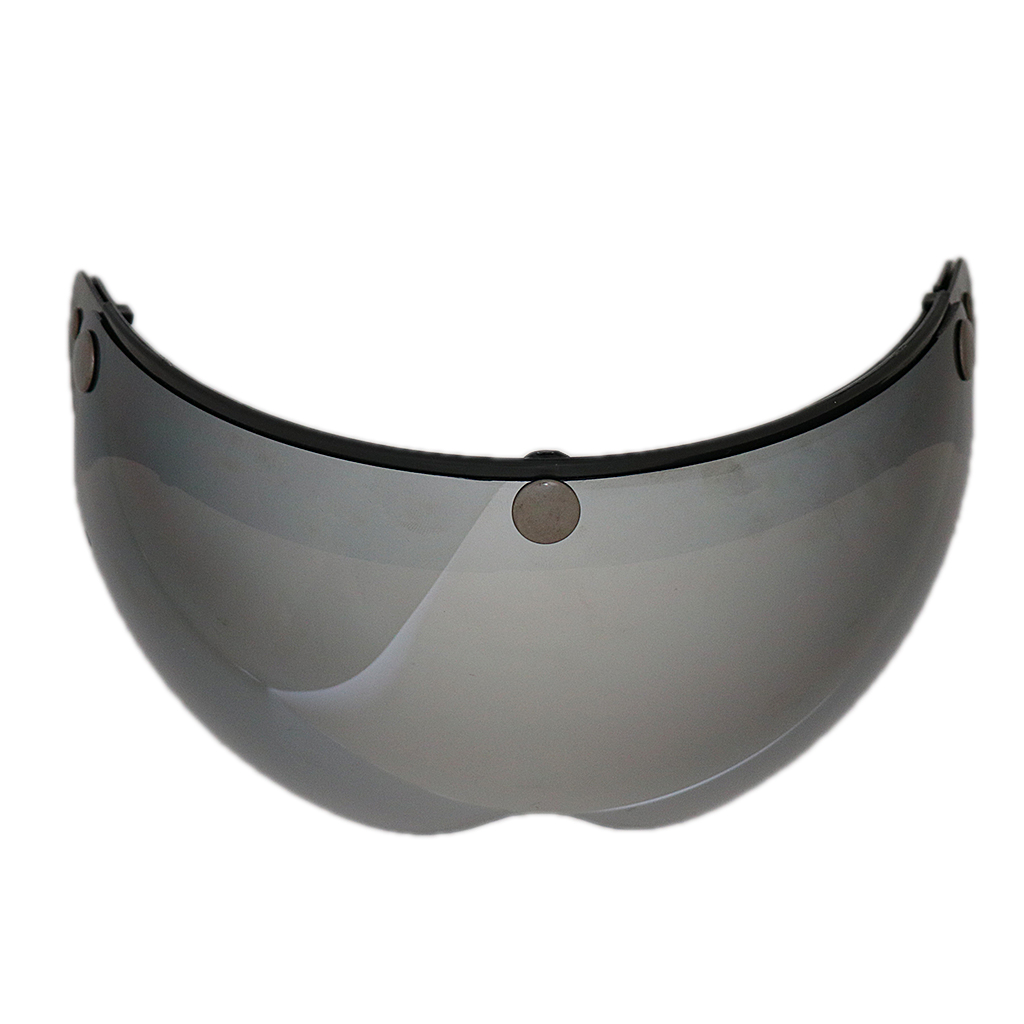 Universal 3 Snap-Button Visor For 3/4 Open Face Motorcycle Helmet Wind Shield Flip Up Universal 3-Snap Fitment