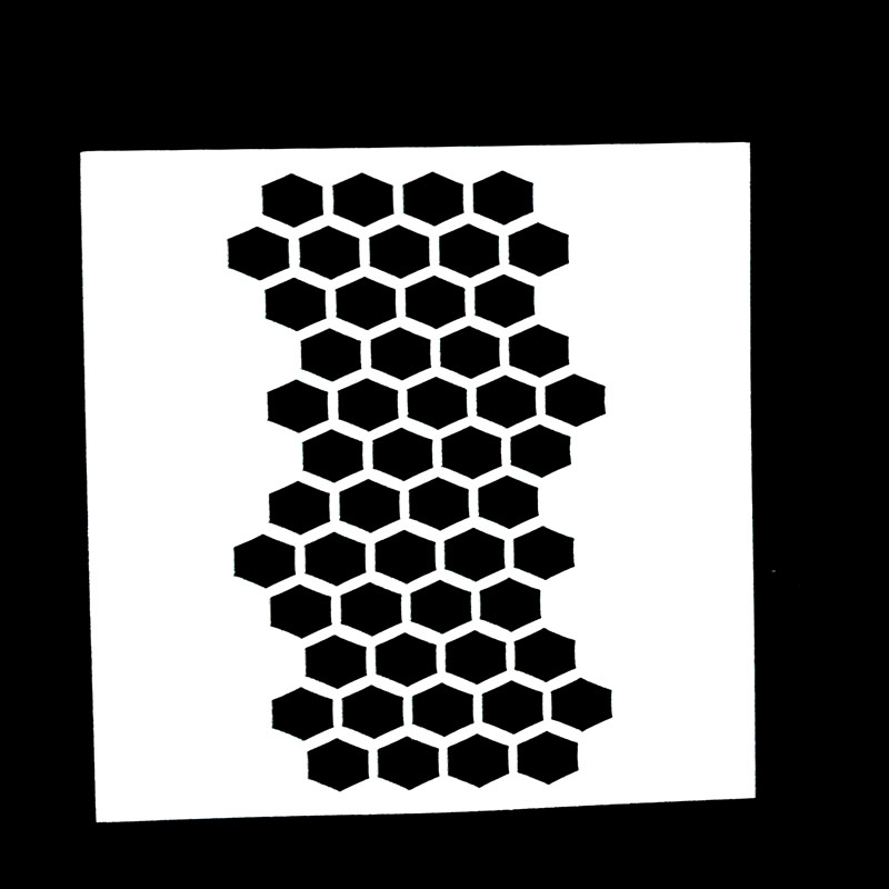 1PC Honeycomb Shaped Reusable Stencil Airbrush Painting Art DIY Home Decor Scrap Booking Album Crafts Free Shipping