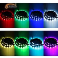 OKEEN 4pcs 90+120cm App Remote Control Car RGB LED Strip Under Car Glow Underbody System Neon Lights Waterproof Auto Car Styling