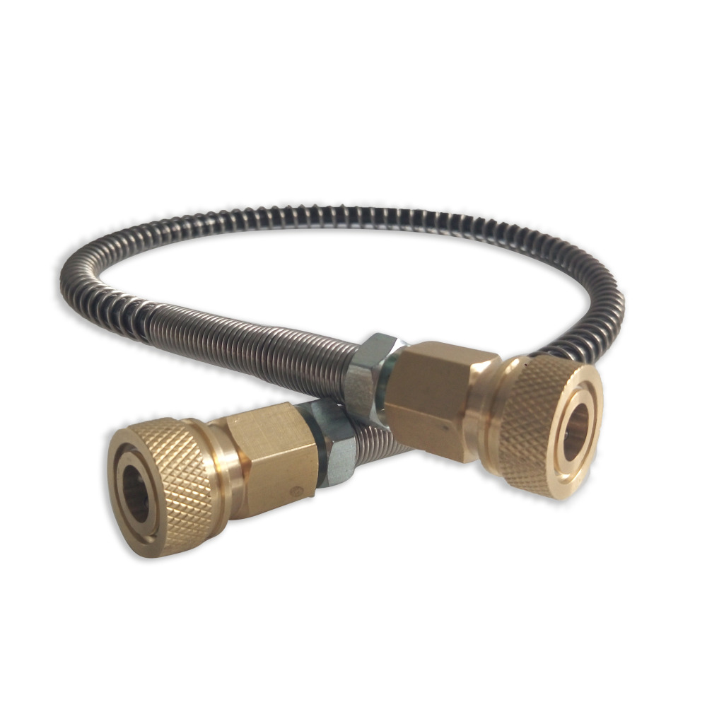 Acecare Paintball High Pressure Hose With Spring Wrapped For Pneumatics Equipment 50cm/1m Long M10*1 X M10*1 Male Thread AC89