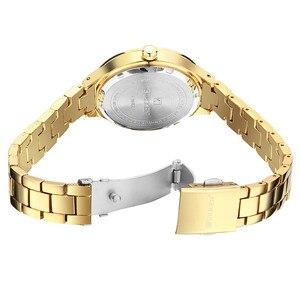 Image 5 - 2019 Curren Women Watches Luxury Gold Black Full Steel Dress Jewelry Quartz Watch Ladies Fashion Elegant Clock Relogio Feminino
