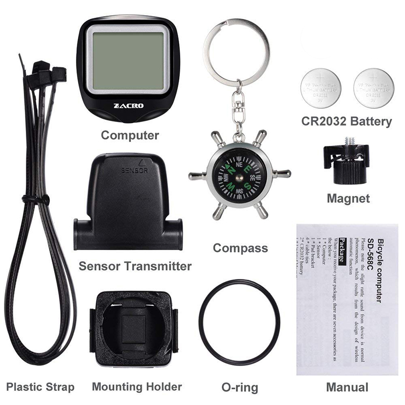 0a519c5311c 2019 Zacro Bicycle Speedometer Bike Cycle Computer Wireless Cycling ...