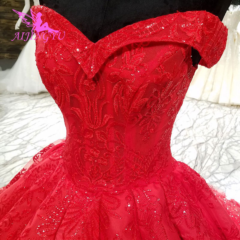 AIJINGYU Wedding Dress Sexy Gowns Corset Beautiful Gothic Bridal Vintage Cord Lace For Gown New Wedding Dresses