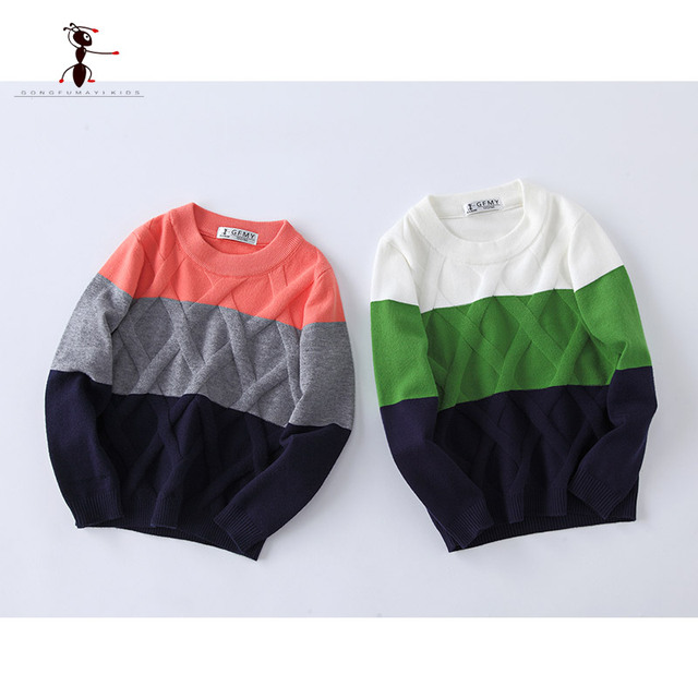 Patchwork Pattern Knitted Jersey