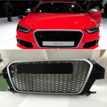 08-13 ABS Radiator Grills, Auto honeybomb Grille without parking sensor For Audi Q3(Fits for 08-13 AUDI Q3)