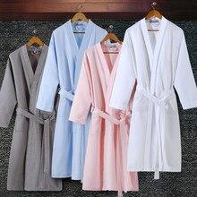 db65c3f578 On Sale Lovers Summer Suck Water Kimono Bath Robe Men Plus Size Sexy Waffle Bathrobe  Mens Dressing Gown Male Lounge Robes