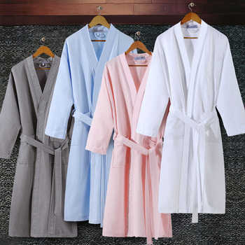 On Sale Lovers Summer Suck Water Kimono Bath Robe Men Plus Size Sexy Waffle Bathrobe Mens Dressing Gown Male Lounge Robes - DISCOUNT ITEM  47% OFF All Category