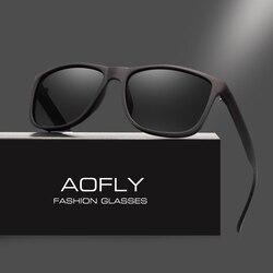 AOFLY Brand Design Polarized Sunglasses Men Driving Sun Glasses Vintage Retro Mirror Goggle Eyewear Male Gafas De Sol AF8031
