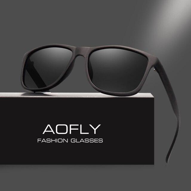 ff0b602397632 AOFLY Design Da Marca Óculos Polarizados Homens Condução Óculos de Sol Do Vintage  óculos de sol