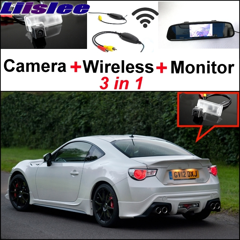 Liislee Special Camera Wireless Receiver + Mirror Monitor Parking System For TOYOTA 86 GT FT GT86 FT86 86GT 86FT For Subaru BRZ wireless pager system 433 92mhz wireless restaurant table buzzer with monitor and watch receiver 3 display 42 call button