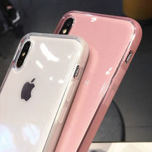 Fashion colorful Transparent Anti-shock Frame Phone Case For iPhone X XS XR XS Max 8 7 6 6S Plus Soft TPU Protection Back Cover