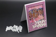 AZSG Wonderful notes  Metal Cutting Dies for DIY Scrapbooking Photo Album Paper Cards Making Decorative Embossing Stencil Craft