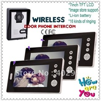 3 V 1 Wireless Image Storage Home Security Products Video Intercom Systems Wireless 7 LCD Take