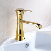 BAOLINLONG Contemporary Style Brass Deck Mount Basin Bathroom Faucet Tap Vanity Vessel Sinks Mixer