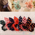 2016 Top Quality10Pcs Rabbit Ear Hair Tie Bands Accessories Japan Korean Style Ponytail Holder 2MWR 5PXY 7MM2
