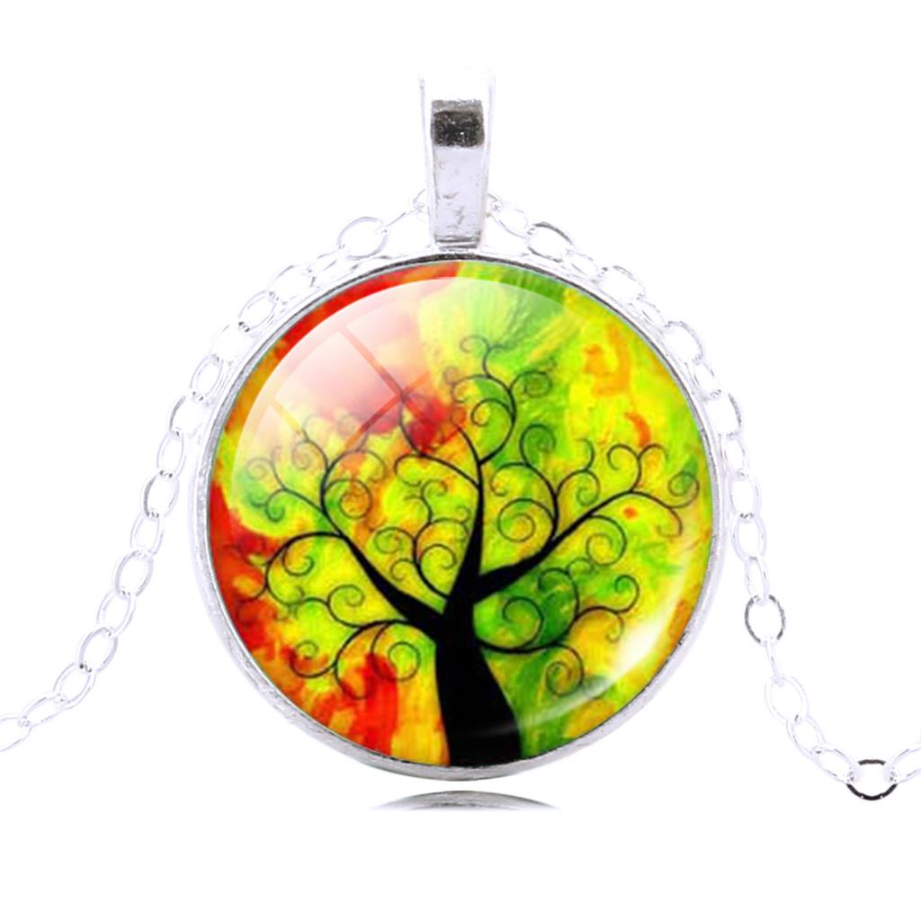 LIEBE ENGEL Fashion Life Tree Pendant Necklace Vintage Silver Color ...
