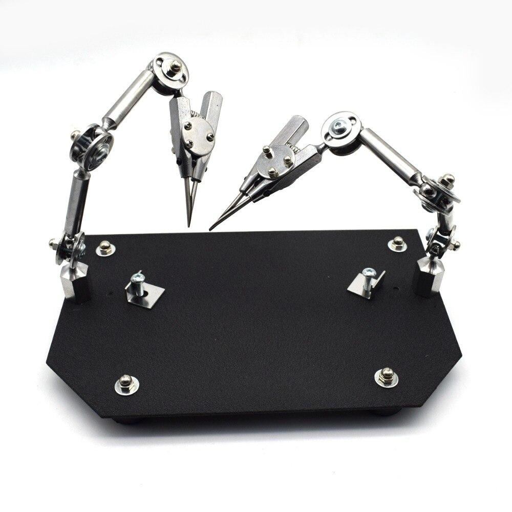 Abrazadera de soldadura de joyería de estación de soldadura de doble tercera mano-in Material y herramientas de joyería from Joyería y accesorios    1
