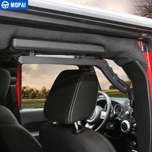Image 2 - MOPAI Aluminum Car Front Rear Interior Decoration Top Mount Hardtop Grab Handle Bar For Jeep Wrangler 2007 Up Car Styling
