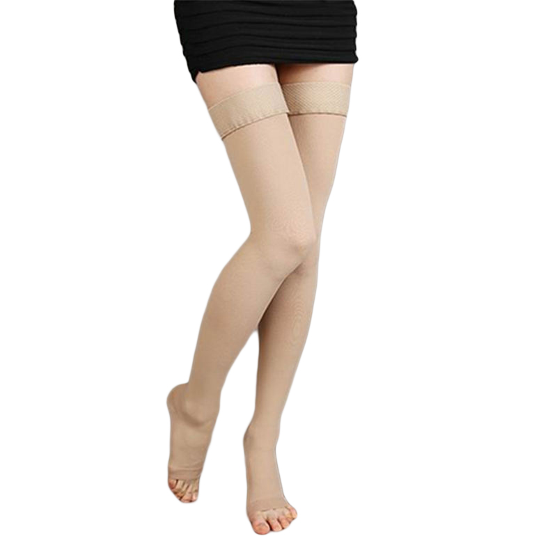 stockings Unisex Knee-High Medical Compression Stockings Varicose Veins Open Toe Thigh long Socks гольфы