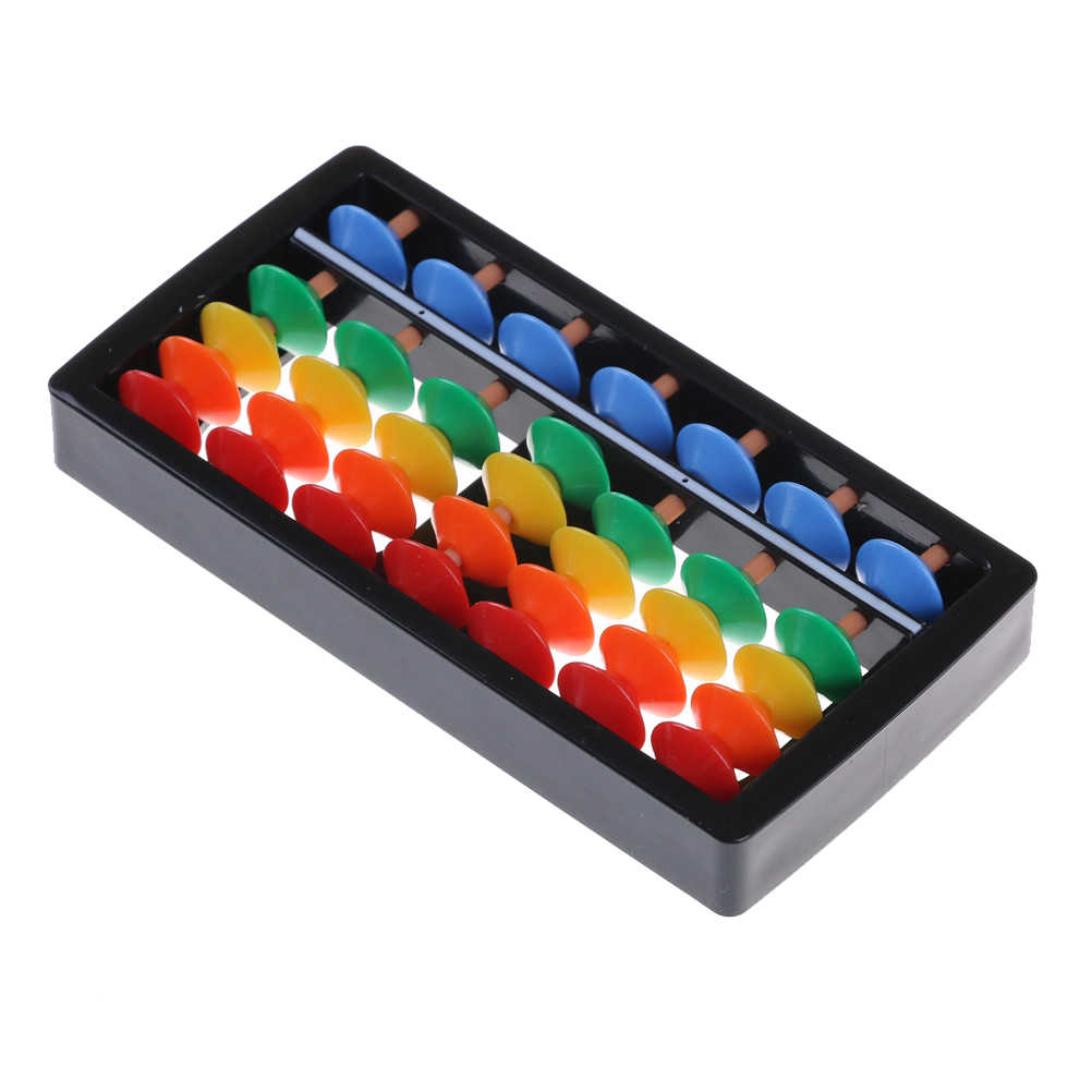 7 Cifre Bambini Matematica di Calcolo Strumenti di Plastica Abaco Aritmetica Soroban Abaco Cinese Giocattoli Abacus Educativi di Piccola Dimensione 12X6 cm