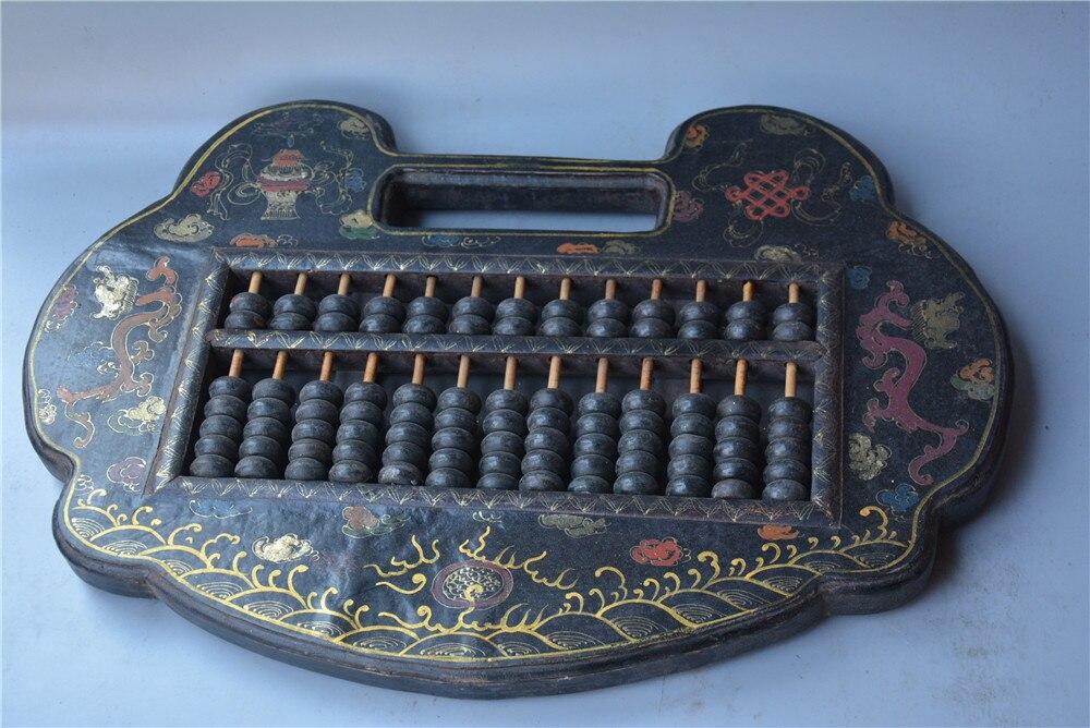 Antique vieille calculatrice en bois chinois-boulier, outil de comptabilité de la chine Antique, peinture décorative à la main, livraison gratuite