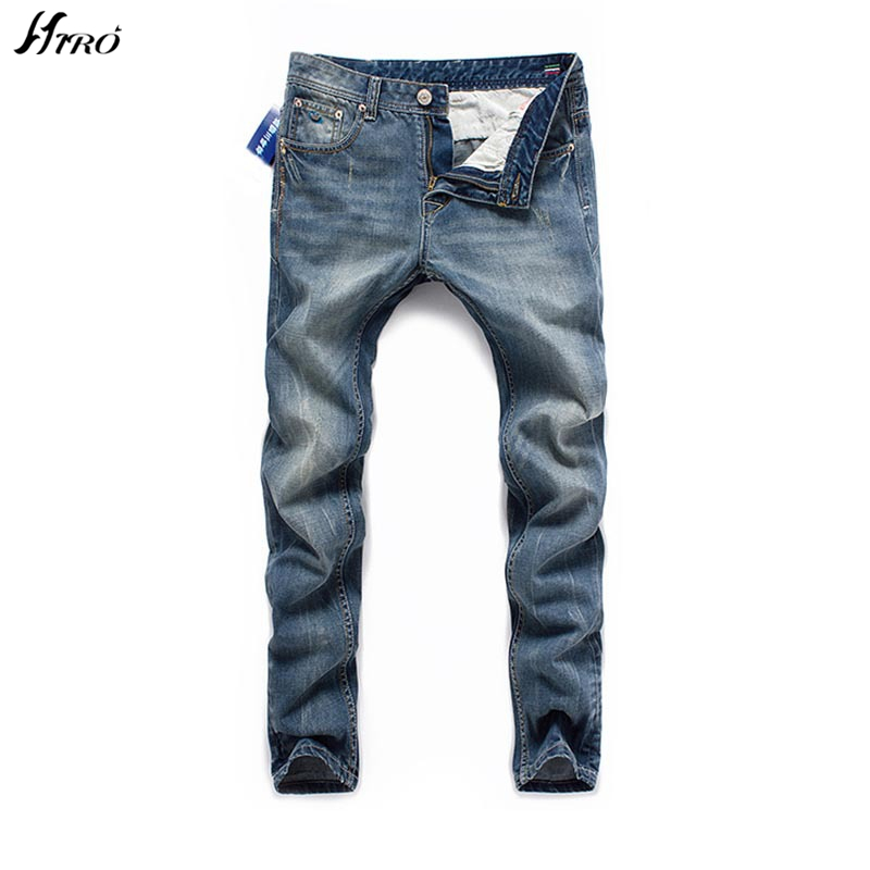 2017 Fashion Designer Brand Upscale Cotton High Quality Men Jeans Trouser European and American Casual Style Pant for Male Jeans 2014 new european and american style high collar coat fur clothing brand men s fashion casual plaid cotton jacket