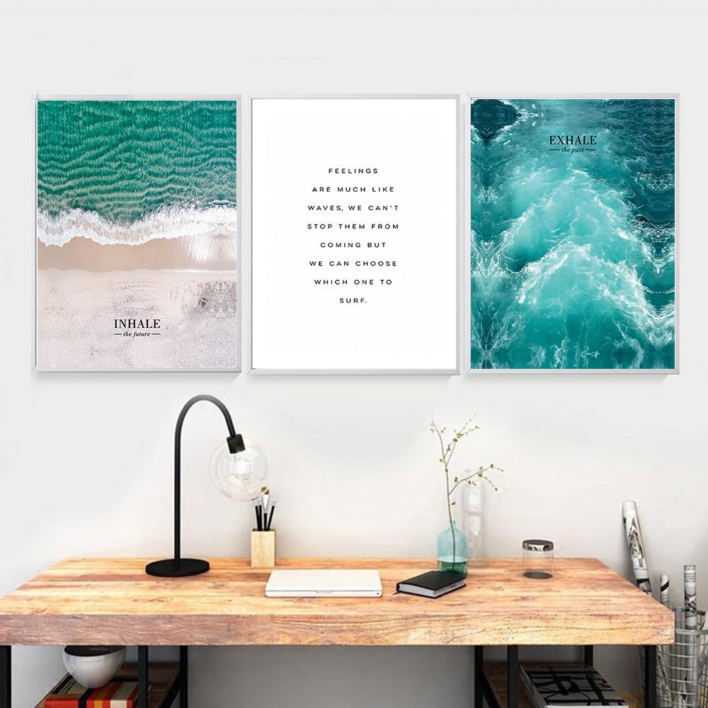 Північний стиль хвилі море пейзаж - Домашній декор