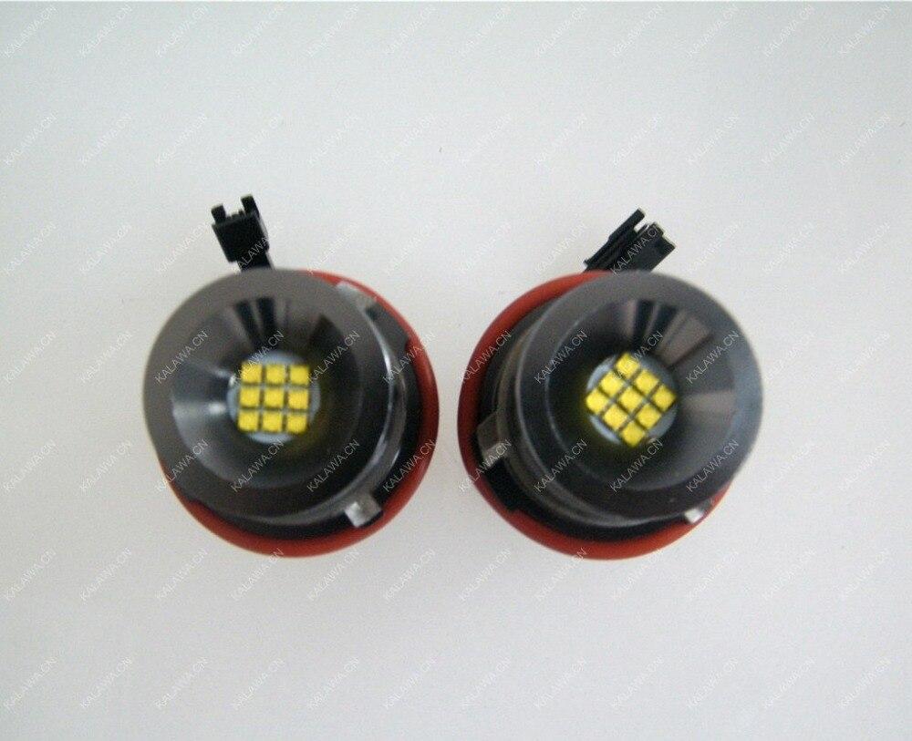 one pair 2*45W 90W 8 CREE LED Marker Angel Eyes No error High Power case for BMW E39 E60 E61 E63 E64 BD-LA-001 45W GGGG