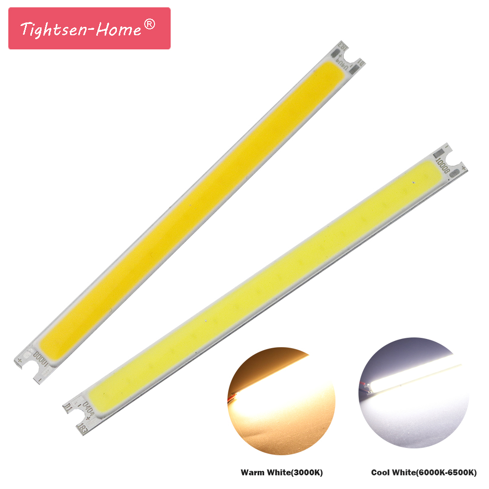 Super Bright COB Bulb Chip LED Strip Bar Light Source DC 12V 14V Warm White Pure White 5W DIY 10CM LED Lamp  Lighting 100x8MM