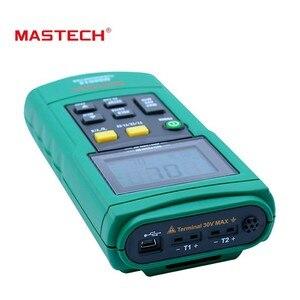 Image 5 - MasTech MS6514 ميزان الحرارة الرقمي المزدوج قناة مسجل درجة الحرارة تستر USB واجهة 1000 مجموعات البيانات KJTERSN الحرارية