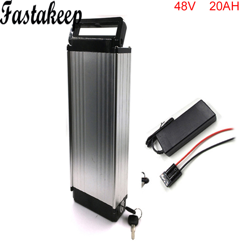 1000w 48V 20AH Lithium Battery for bafang 750w 48v bbs02 mid drive kit rechargeble luggage battery 48v 20Ah with BMS and charger