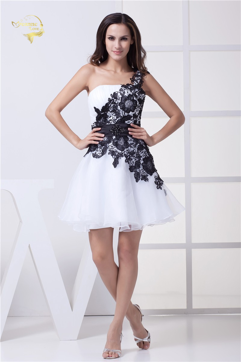 Weddings Events Special Fashion Girl New Design Robe De Cocktail Party Dress Sexy One Shoulder Lace Cocktail Dresses 2019 CK6188