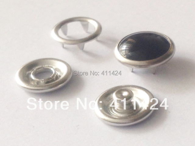 HOT SALE! 10sets Black Pearl Prong Snap button 10mm Fastener Press ...