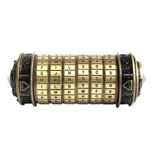 купить Leonardo Da Vinci Code Cylinder Puzzle Lock Alloy Zinc Cryptex Valentine's Day Romantic Birthday Gifts Escape Chamber Props дешево