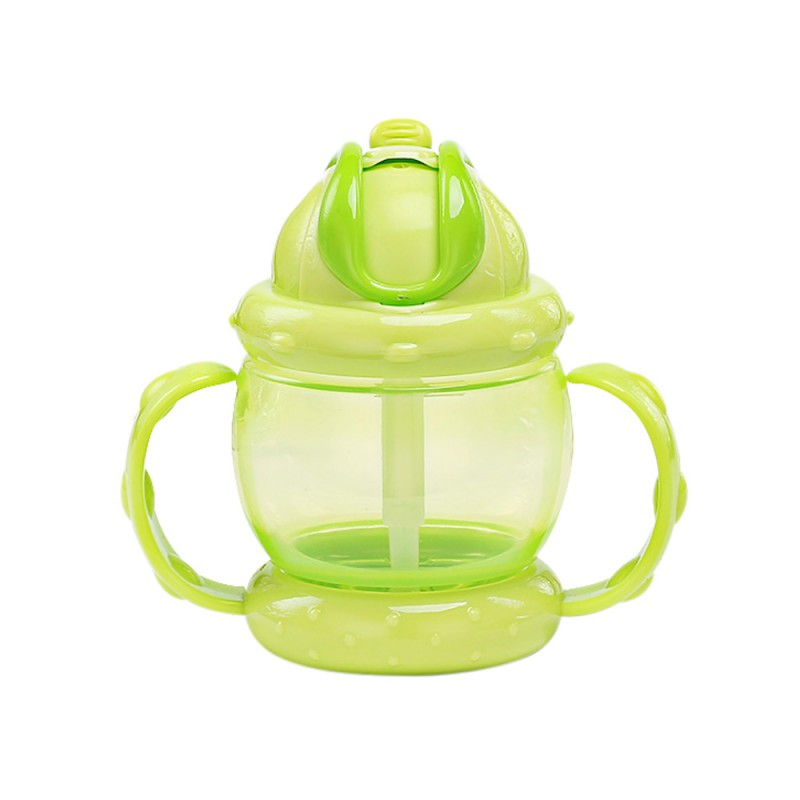 Babys Feeding 240ml Water Bottle Learning Drinking Sippy Cups With Handles High Can Kids Newborns PP Straw Waterproof Cup