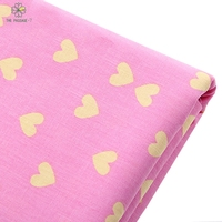 Twill Cotton Fabric 50 Cm X 160 Cm Piece Yellow Heart Heat Furnishings And Upholstery Patchwork