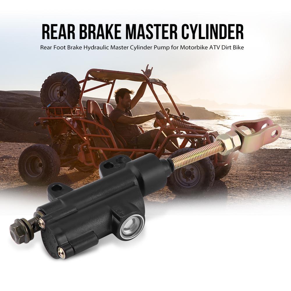 Universal Rear Brake Cylinder Motorcycle Folding Hydraulic Master Cylinder Pump for Motorcycle Dirt Bike ATV Black