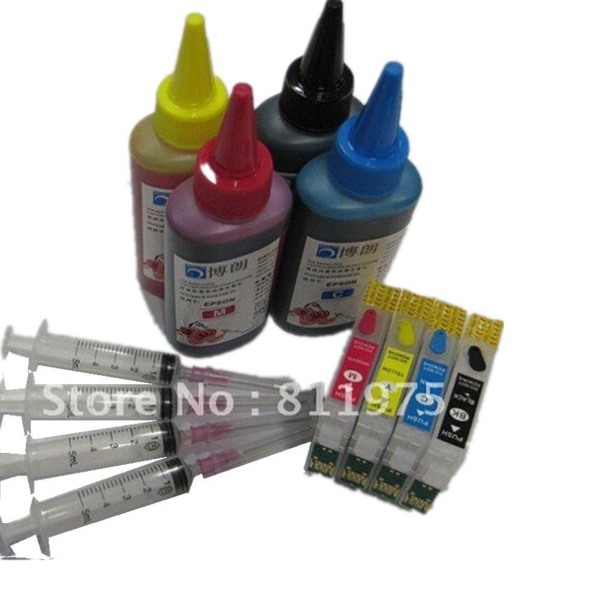 73 73N T0731N reillable ink cartridge for epson Stylus CX5900 CX6900F CX7300 CX9300F CX9300F TX209 TX213 TX220 +400ml dye ink 73n t0731n t0734n refillable ink cartridge for epson tx200 tx410 tx400 tx210 stylus office tx300f printers