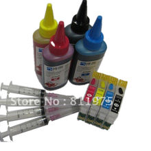 73 73N T0731N reillable inkt cartridge voor epson Stylus CX5900 CX6900F CX7300 CX9300F CX9300F TX209 TX213 TX220 + 400 ml dye inkt(China)