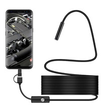3 In 1 7mm Android Endoscope Camera IP67 Waterproof Detection With 6 LED Lights For PC Type-C
