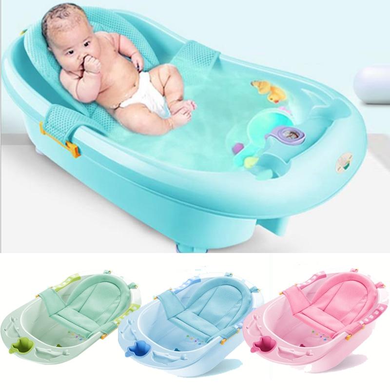 Baby Bath Net Tub Security Support Child Shower Care For Newborn Adjustable Safety Net Cradle Sling Mesh For Infant Bathing